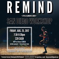 REMIND (Style Elements)  San Diego Workshop (FSS Weekend)