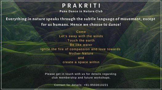 Prakriti- Dance in Nature