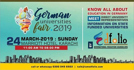 German Universities Fair 2019 - Free Entry
