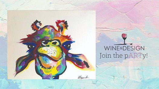 Abby Giraffe Paint And Sip At Wine Design Winston Salem2235