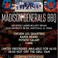 Madison Generals Cook Out &amp Bama Vs AU Silent Auction