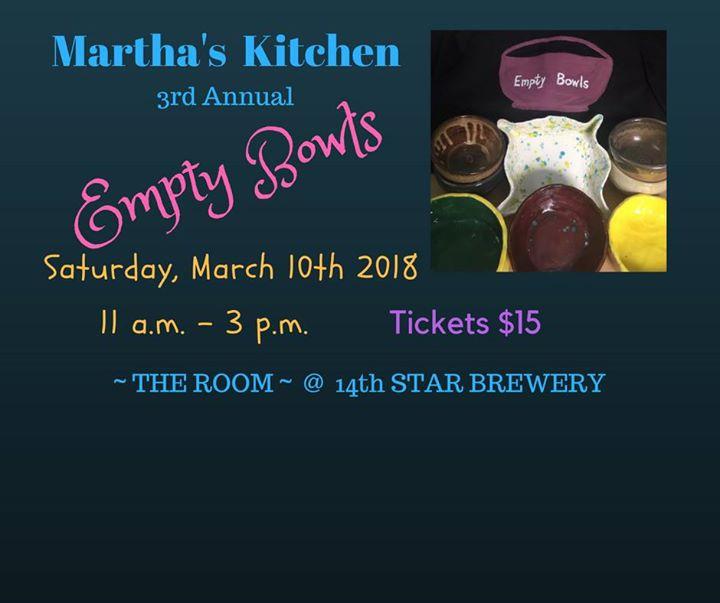 marthas kitchen empty bowls 2018 - Marthas Kitchen