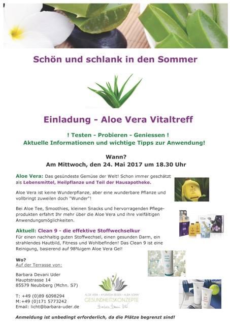 Aloe Vera Vital Treff At Barbara Devani Uder · Ayurveda Reisen ... Aloe Vera Pflanze Pflege Anwendung