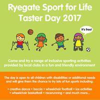 Ryegate Sport for Life Taster Day 2017