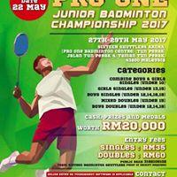 Pro One Junior Badminton Championship 2017