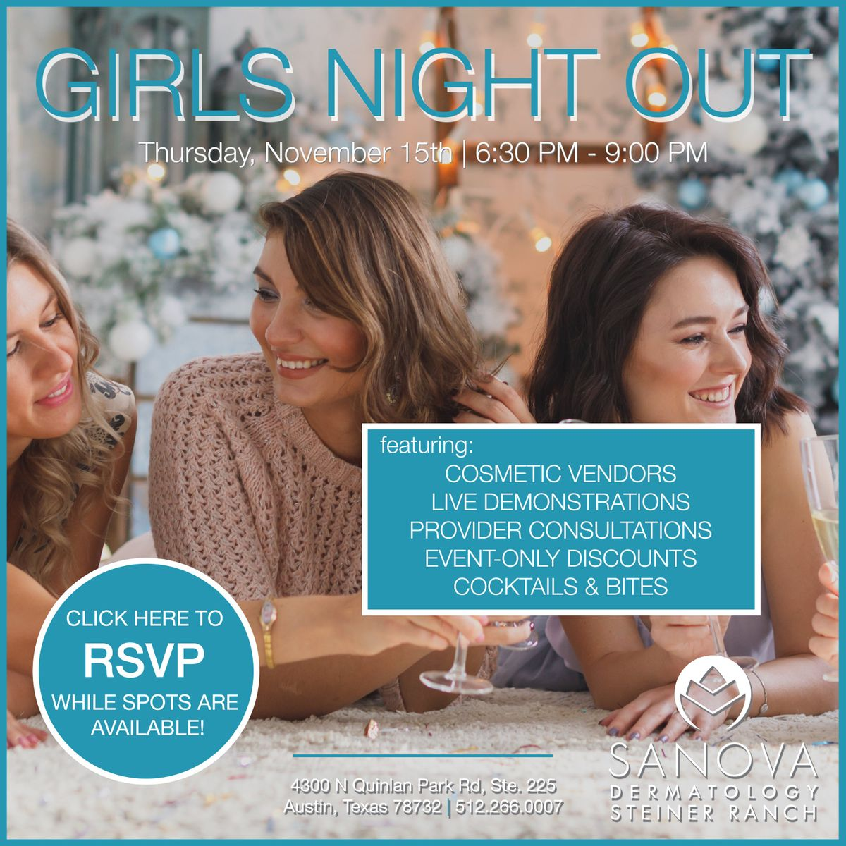 Sanova Dermatology - Steiner Ranch | Girls Night Out 2018