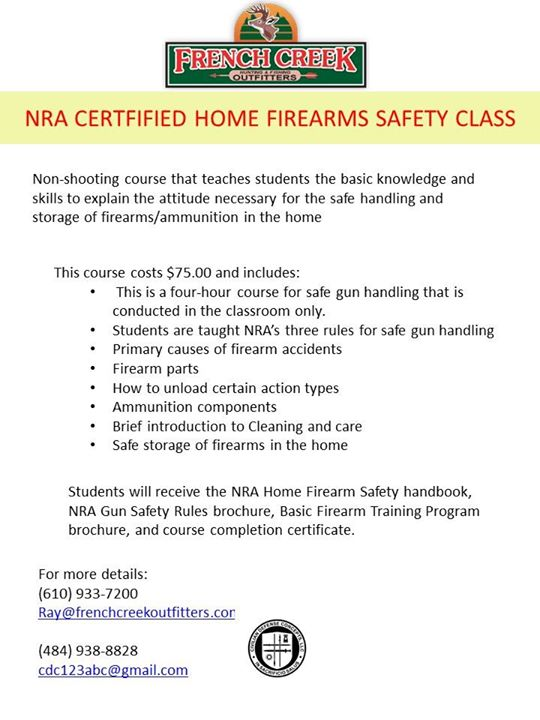 NRA Certified Home Firearms Safety at Civilian Defense Concepts, LLC ...