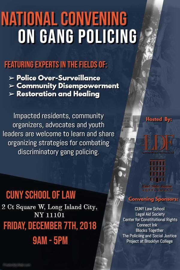 National Convening on Gang Policing