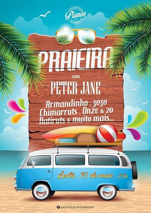 Festa Praieira com a banda Peter Jane pianosbar.embaixador