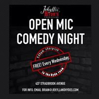 Comedy Wednesdays at Jekyll &amp Hydes 10 off bottles of wine