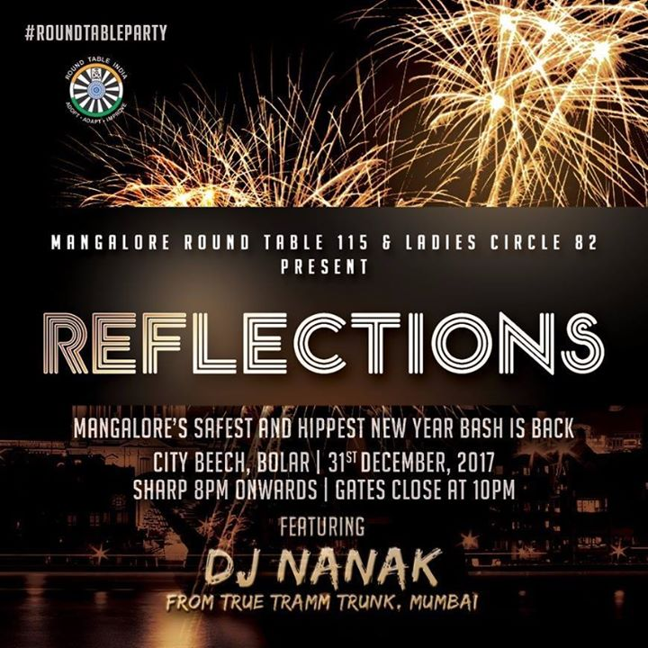 Reflections New Year Party at City Beech, Bolar, Mangalore