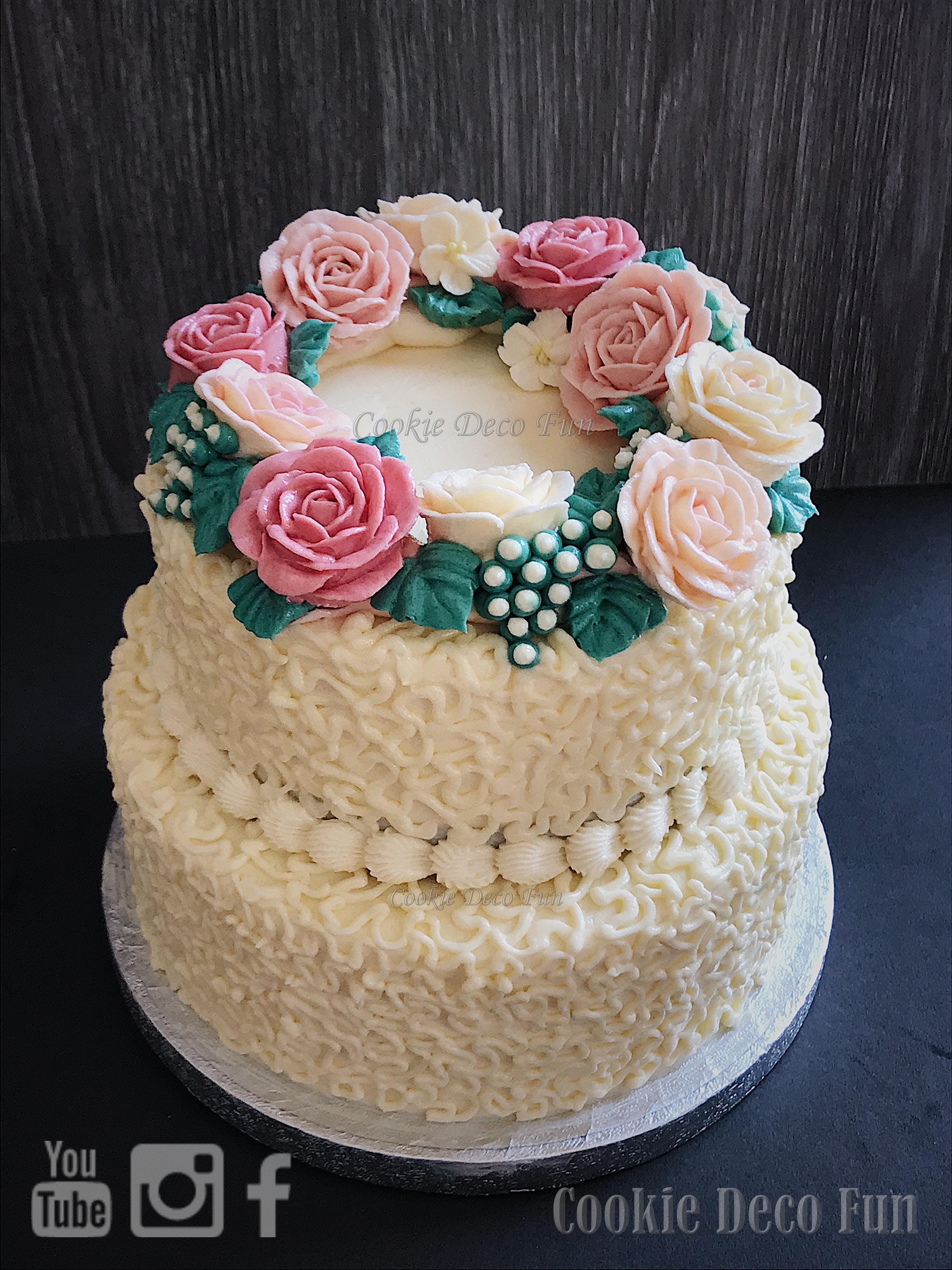 Buttercream flower cake DIY workshop