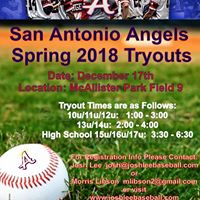 SA Angels Spring 2018 Tryouts