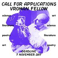 Call for Applications Vroman Fellowship