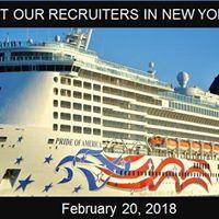 Norwegian Cruise Line Recruiting in New York NY