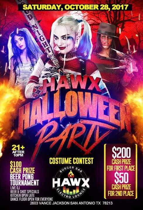 HAWX HALLOWEEN PARTY! at Hawx Burger Bar & Electro Lounge, San Antonio