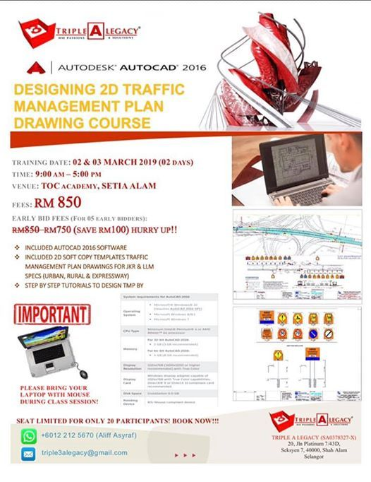 DESIGNING 2D TRAFFIC MANAGEMENT PLAN (TMP) DRAWING COURSE at