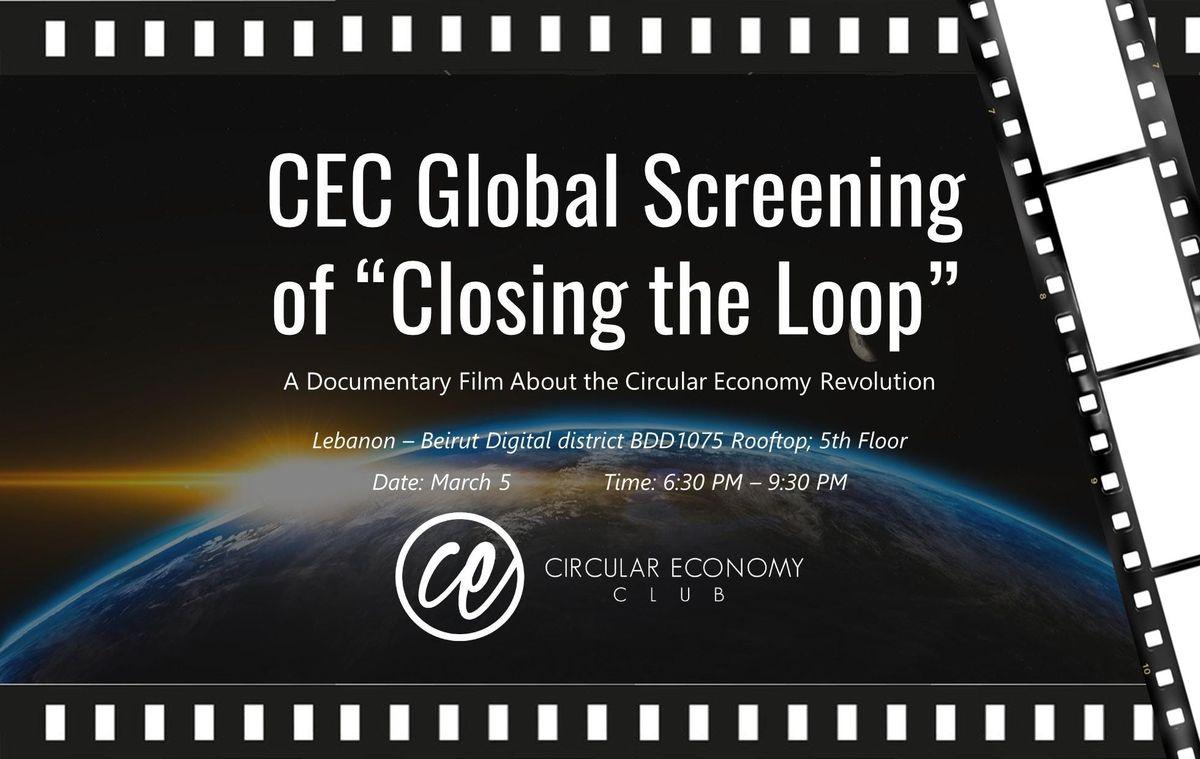 CEC (Lebanon) Global Screening of Closing The Loop - March 5 2019