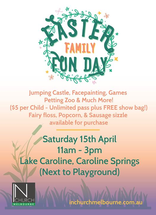 Caroline springs easter family fun day at corner garretty road and event details negle Images