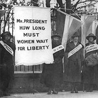 Suffrage Rally in City Hall Park
