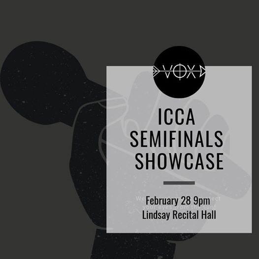 ICCA Semifinals Showcase at Lindsay Recital Hall114 North