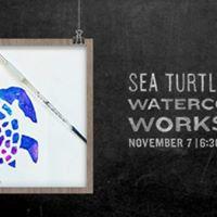 Get Schoold Sea Turtle Salt  Watercolour Workshop