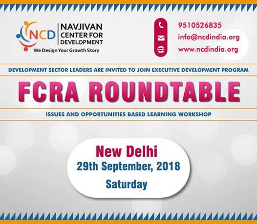 FCRA Roundtable New Delhi