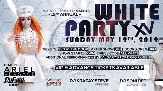 15th Annual White Party starring Ariel Versace