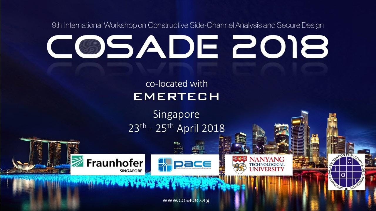COSADE 2018 and EMERTECH