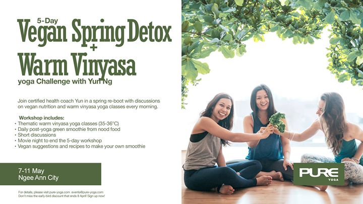 5-Day Vegan Spring Detox  Warm Vinyasa Yoga Challenge with Yun