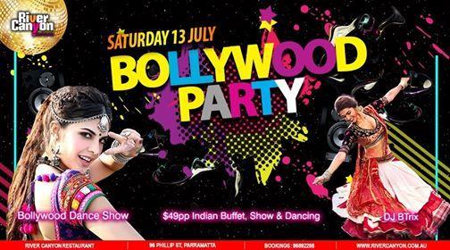 Bollywood PARTY - Saturday 13 July