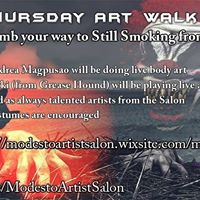 Halloween Art Walk with Modesto Artist Salon