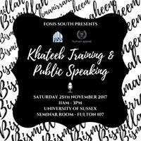 Khateeb Training &amp Public Speaking