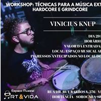 Workshop Tcnicas para a msica extrema hardcore e grindcore