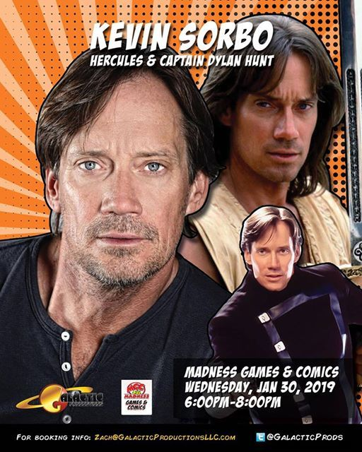 Kevin Sorbo at Madness Games and Comics