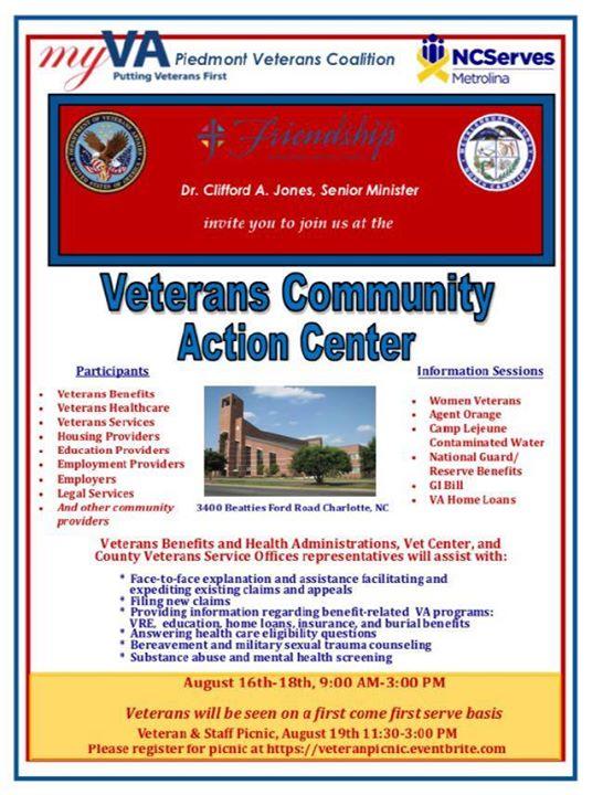 VA Piedmont Veterans Coalition at 3400 Beatties Ford Rd
