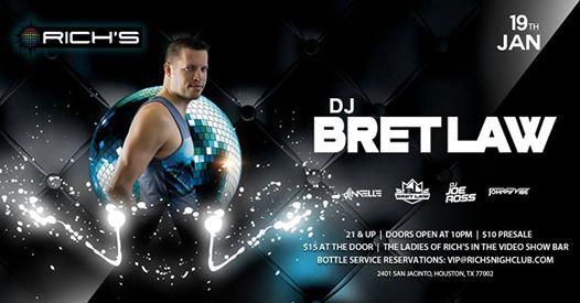 DJProducer Bret Law (Seattle) Spins Richs Houston