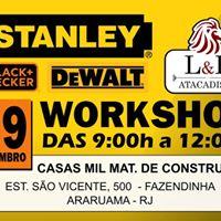 Workshop de Ferramentas Stanley DeWalt e Black &amp Decker