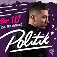 FLY Presents Politik  Saturday 16th December