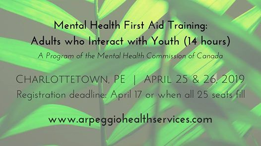 Mental Health First Aid Training Youth - Charlottetown PE