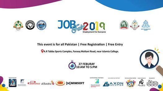 Karachi Job Fair 2019 at A R Tabba sports complex, Karachi