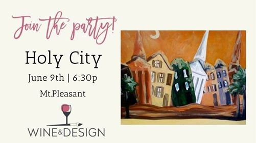 Paint Sip Class Holy City At Wine Design Mount Pleasant Sc
