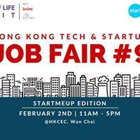 HK Tech &amp Startups Job Fair 9 - StartMeUp Edition