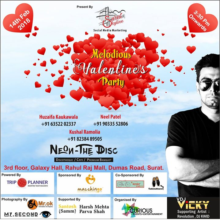 Melodious Valentine Party At Surat Skyline Surat