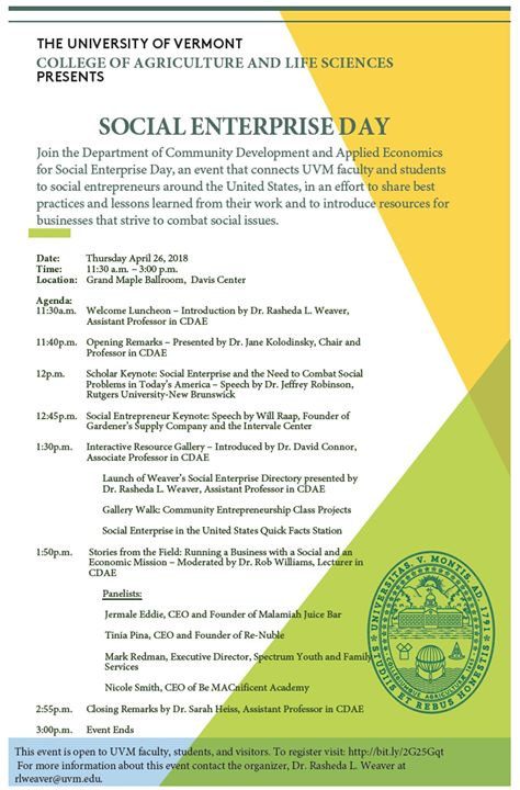 Social Enterprise Day at Community Development and Applied Economics