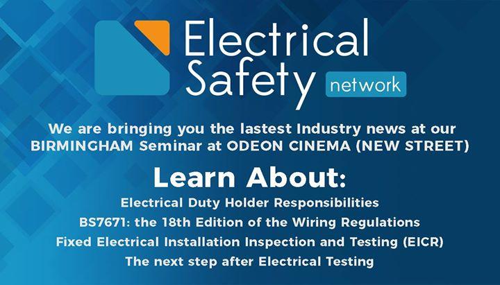 Electrical Safety Network Duty Holder Seminar