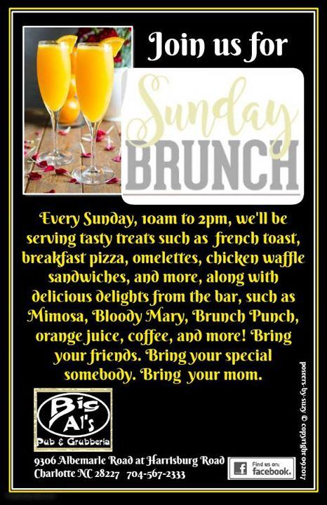 Sunday Brunch at Big Als Charlotte