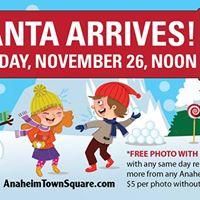 Santa Arrives at Anaheim Town Square