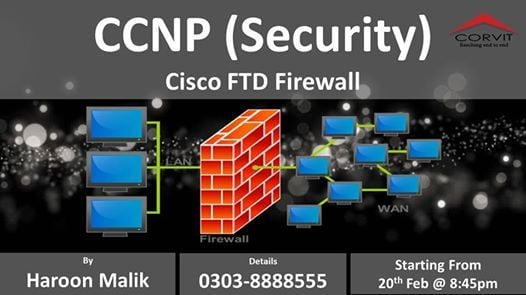 CCNP Security (Cisco FTD Firewall) New Class at Corvit
