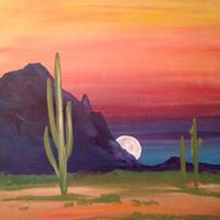 Vino and Canvas &quotPinnacle Peak Sunset&quot Painting Class